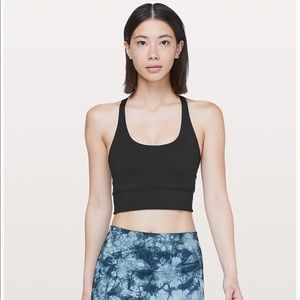 Lululemon Mind Over Miles Black Bra